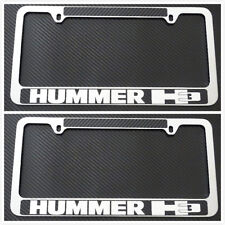 HUMMER H1 H2 H3 304 Stainless Steel 3D License Plate