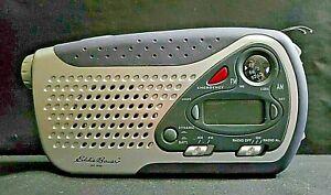 Eddie Bauer Kaito Camping Emergency Solar Crank Powered Portable AM FM Radio