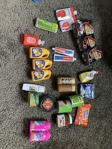 Coles Little Shop toy and shopping basket 25 Items
