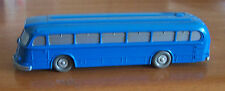 Wiking Germany vintage 1950s bus blue unglazed ho plastic