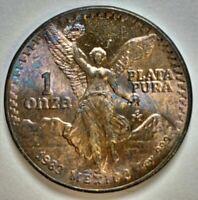 1983-Mo MEXICAN LIBERTAD 1 ONZA .999 SILVER MULTI-COLOR TONED COIN #1