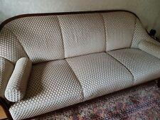 Couch Garnitur 3 Sitzer Sofa Beige