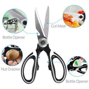 Kitchen Scissors Shears Heavy Duty Multi-Purpose Stainless Steel Chicken Bone UK
