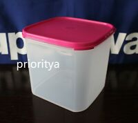 Tupperware Modular Mates Square Container #3 with Flat Seal in Pink New