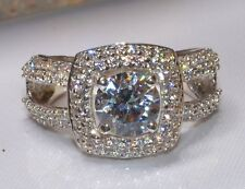 2.39 CT ROUND CUT DIAMOND BEAUTIFUL ENGAGEMENT RING SOLID 14KT WHITE GOLD