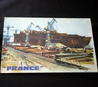 CGT French Line SS FRANCE Construction Info Pamphlet B/W