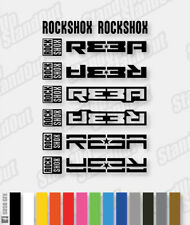 RockShox REBA Decals / Stickers Pack - 3 Designs - Custom / Fluorescent Colours