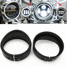 "Harley Street Glide Touring Electra Glide Fat Boy 4.5"" Visor Style Trim Ring B"