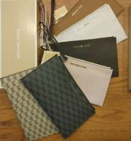 NEW Michael Kors Jet Set Large Zipped Leather $98 MK Clutch Wristlet Wallet