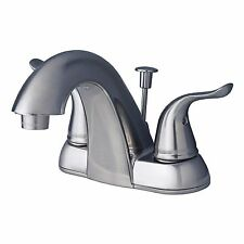 "Contemporary Bathroom Vanity Sink 4"" Centerset Lavatory Faucet Brushed Nickel"