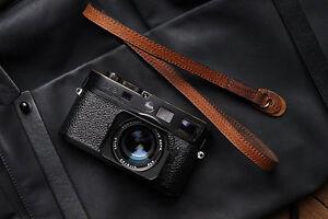 Genuine Real Leather Camera Shoulder Neck Strap for EVIL Film Camera Brown 128