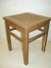 Old wooden stools, Vintage Retro Design Mesh Chair, Wooden Stools