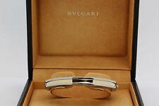 Signed Bvlgari 18k Yellow Gold & Stainless Steel B.Zero 1 Bracelet w/ Boxes 16cm