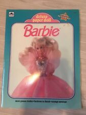 Barbie Mattel Deluxe Paper Doll Book UNCUT 1992 Golden 1690-2