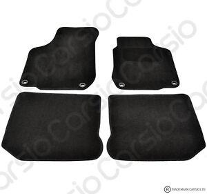 VW Golf MK4 & Beetle 1997 - 2006 Tailored Black Car Floor Mats Carpet Oval Clips