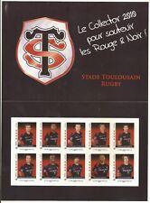 BLOC  DE 10  timbres autocollants RUGBY  NEUF non plier