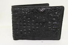 100% Genuine Crocodile Alligator Skin Leather Men's Wallet Black
