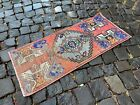 Turkish small rug, Handmade wool rug, Vintage rug, Doormat | 1,3 x 3,0 ft