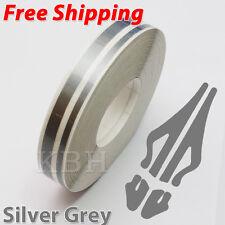 12mm x 9.8m Pinstripe Double Pin Stripe 4mm 2mm Decal Tape Sticker Silver Grey