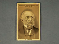 1888 Seal of North Carolina Plug Cut Tobacco Card UK PM William Gladstone No. 2