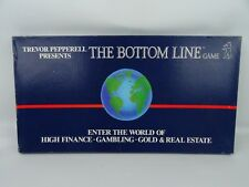 The Bottom Line Board Game By Silver Bear RARE Vintage Retro 1985 Finance Game