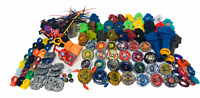 Hasbro Tomy Beyblade Metal Fusion HUGE Bundle Launchers, Cords, Gear