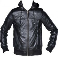 Ladies Leather Hood Jacket Bomber Soft Real Leather Fashion Winter Women Jacket