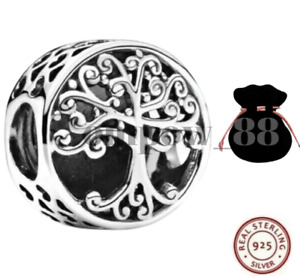 FAMILY ROOTS TREE OF LIFE GENUINE STERLING SILVER 925 CHARM + GIFT BAG