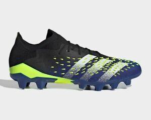 adidas Soccer PREDATOR FREAK.1 LOW HG/AG FZ3711 Core Black Solar Yellow