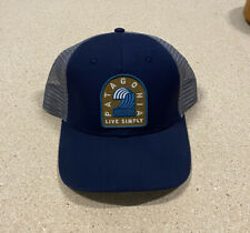 Patagonia Live Simply Wave Trucker Hat Blue Gray
