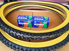 "NEW! 26x2.10 DURO MOUNTAIN BIKE TIRE SET & 2-26"" DURO INNER TUBES *GUM WALL"