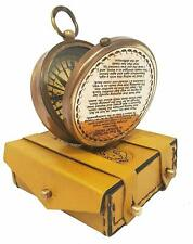 X-Mas The Road Not Taken Magnetic Compass Marine Antique Replica Vintage Gif