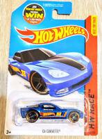 2015Hot WheelsC6 Corvette,Blue,HW Race - HW Race Team,Copper-Rim PR5,NIP