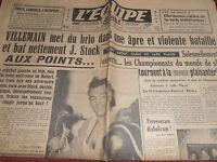 L'EQUIPE BOXE VILLEMAIN / STOCK - CHAMPIONNATS DU MONDE DE SKI  1950