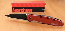 New Kershaw Leek Knife Exclusive Color Black Blade w/Red Handle 1660RDBLK