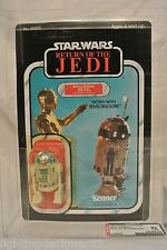 VINTAGE 1983 STAR WARS RETURN OF THE JEDI ROTJ R2-D2 AFA 85 SEALED AFA85 77 BACK