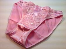 "Women Panties,Bikinis ""Eva Cervantes"" Size XL. Pink Satin Floral W/decoration"