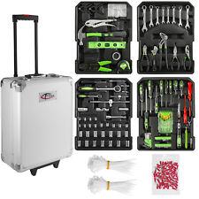 699 Pcs aluminium metal tool box with tools kit storage mobile trolley on wheels