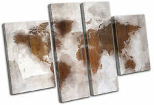 Wooden World Map Decorative Posters & Prints