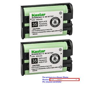 Kastar P107 Type 35 Cordless Telephone Battery for Panasonic HHR-P107 HHR-P107A