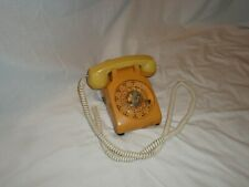 Vintage Analog Rotary Telephone Beige Non-Digital Land Line