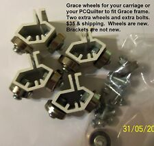 Grace quilting frame wheels and brackets  for carriage or PC Quilter