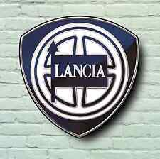 LANCIA Badge Logo 2FT Garage Segno Muro LA PLACCA AUTO CLASSICA STRATOS DELTA RALLY