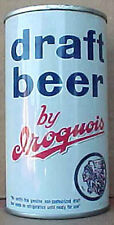Iroquois Draft Beer ss Flat Top Can with Indian Buffalo, New York, 1964 issue 1+