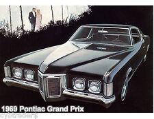1969 Pontiac Grand Prix  Auto  Refrigerator / Tool Box Magnet Man Cave Gift Item