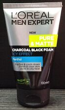 100mL LOREAL MEN EXPERT Pure Matte ICY CHARCOAL Anti ACNE Face Wash Foam L'OREAL