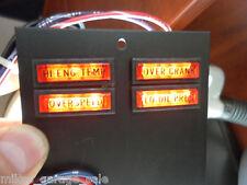 WARNING LIGHT PANEL ONAN 322-0396-02 INDICATOR LIGHTS 322-0369-03 marked 28volt