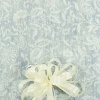 100' White Floral Lace Print  Wedding Aisle Runner W/Tape&Rope