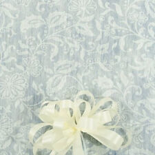 50' White Floral Lace Print  Wedding Aisle Runner W/Tape&Rope