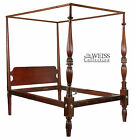 SWC Federal Sheraton Tall post Bed with acanthus leafed foot posts  Salem  c1820